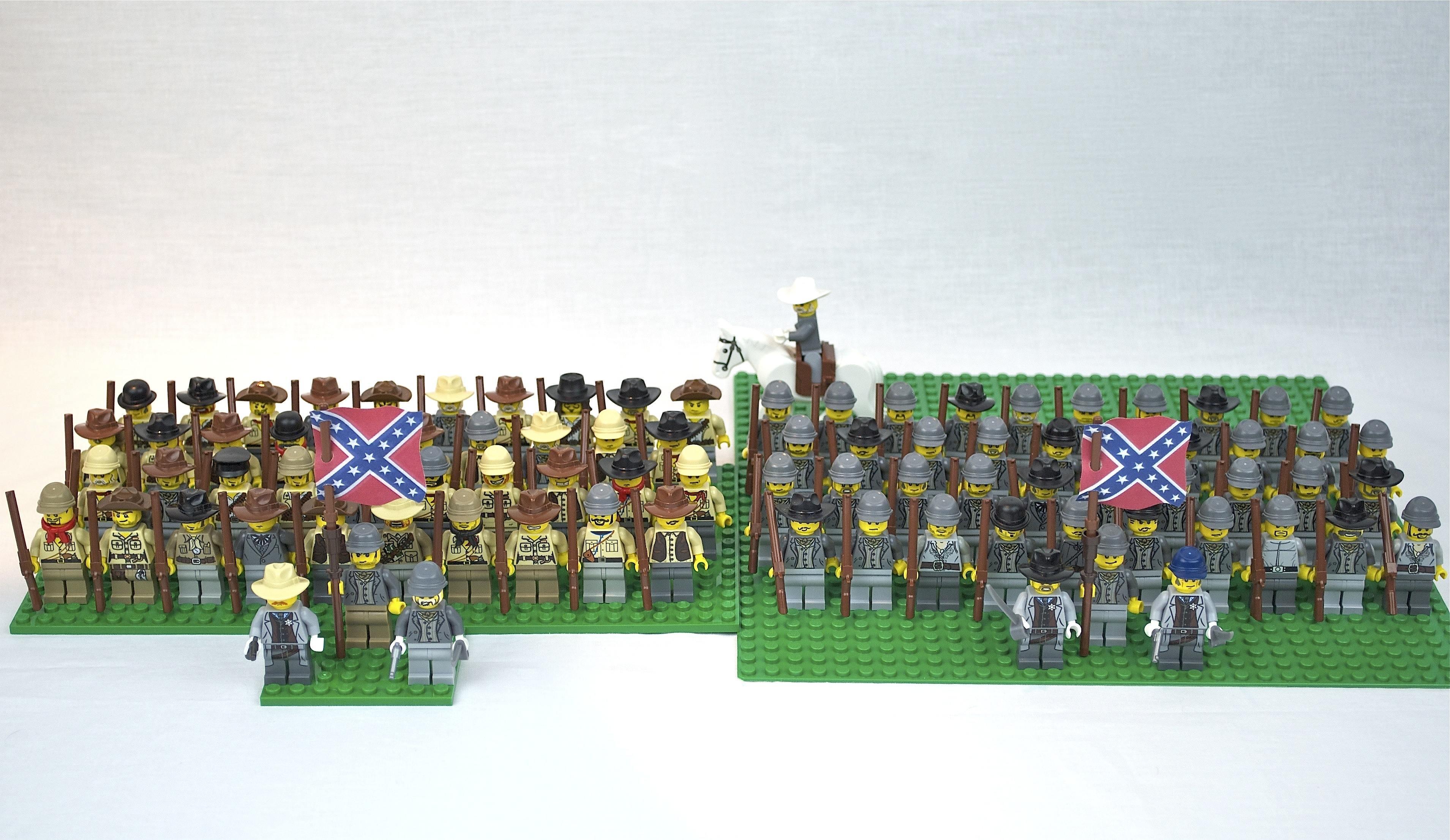 Lego Soldats Confédérés   BrickMafia