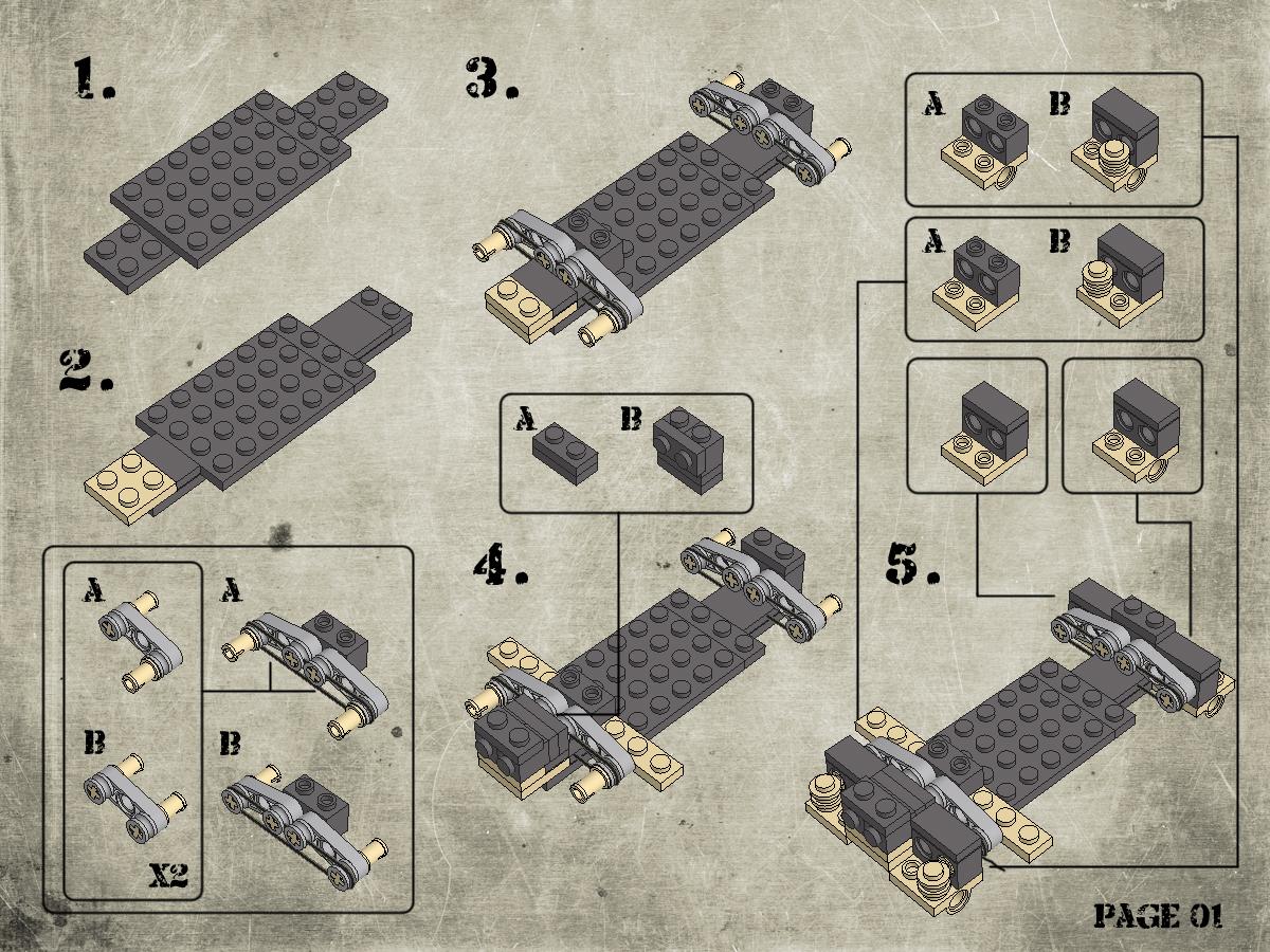 Etape 2 - Notice Lego Humwee - Version LegoHaulic