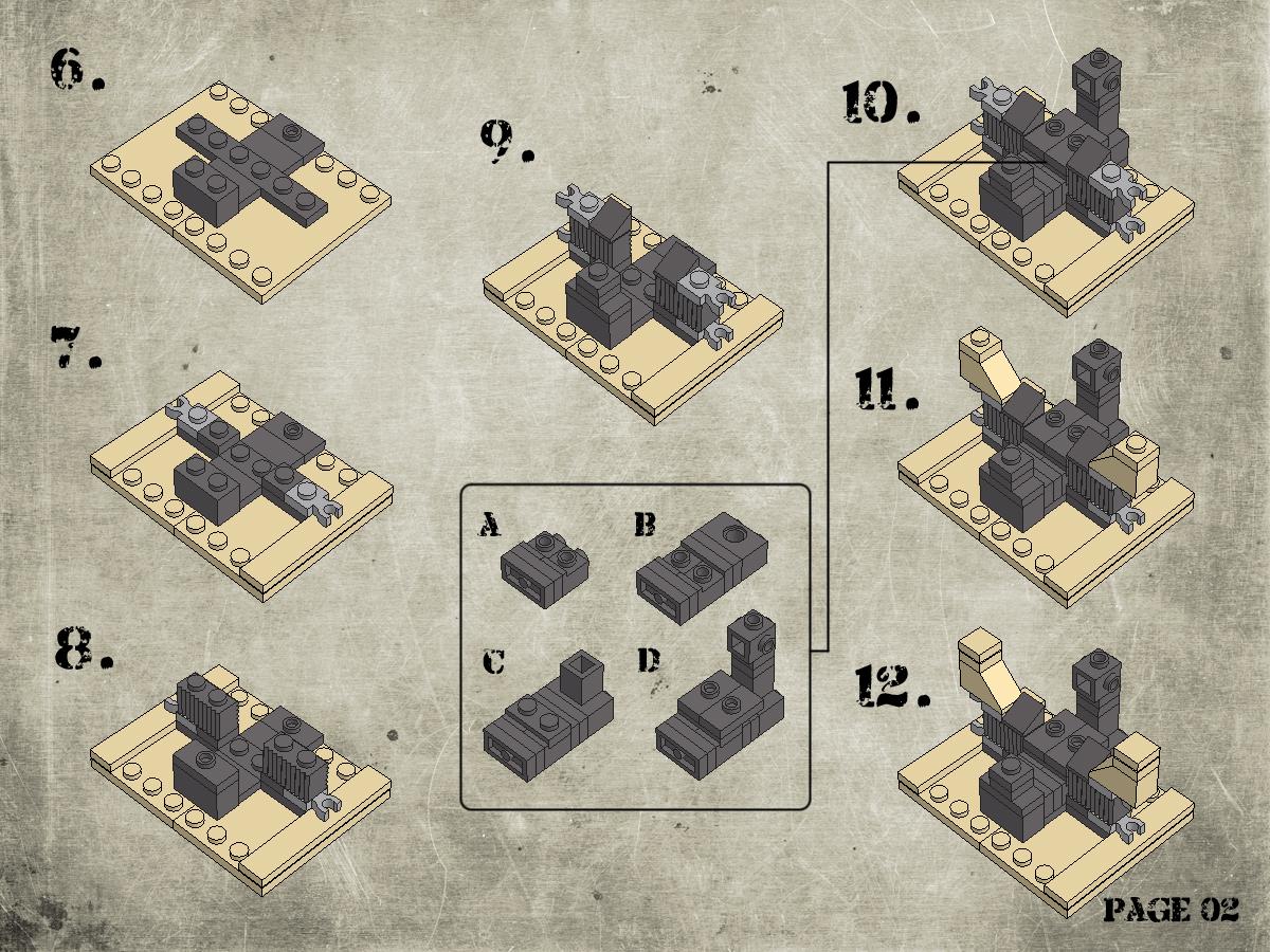 Etape 3 - Notice Lego Humwee - Version LegoHaulic