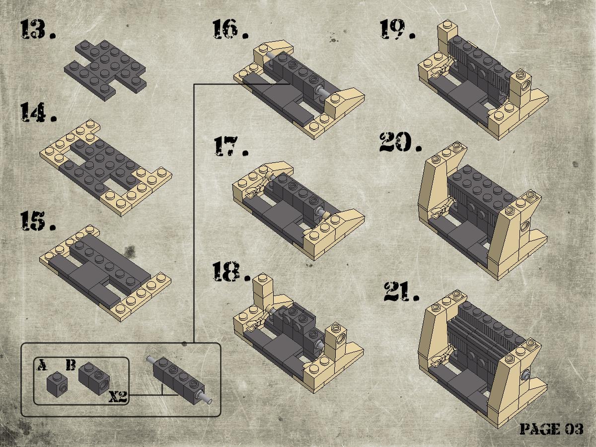 Etape 4 - Notice Lego Humwee - Version LegoHaulic