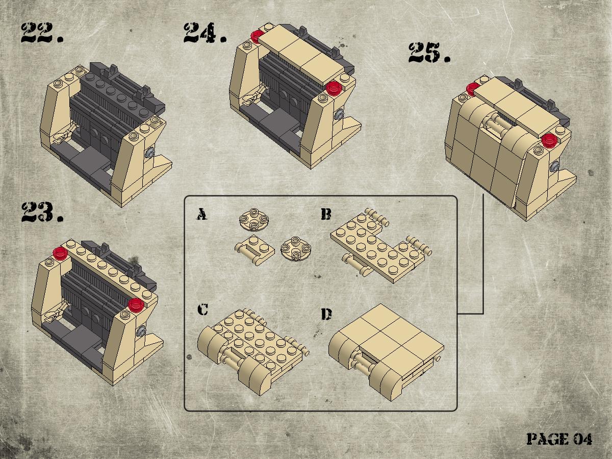 Etape 5 - Notice Lego Humwee - Version LegoHaulic