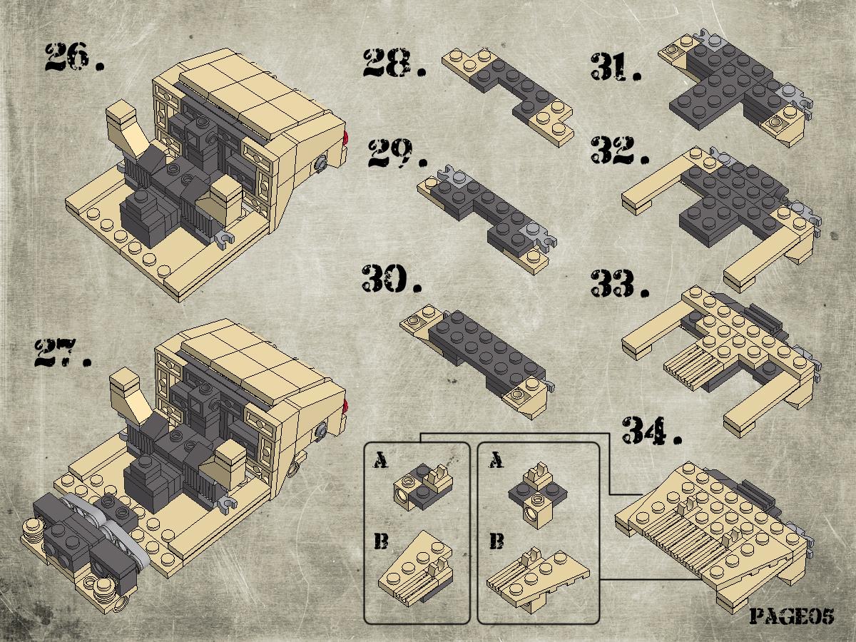 Etape 6 - Notice Lego Humwee - Version LegoHaulic