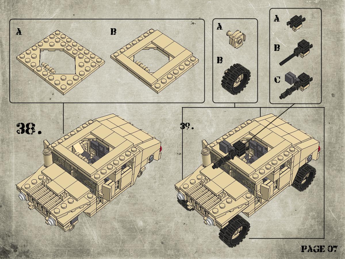 Etape 8 - Notice Lego Humwee - Version LegoHaulic