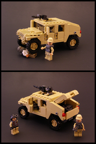 Etape 9 - Notice Lego Humwee - Version LegoHaulic