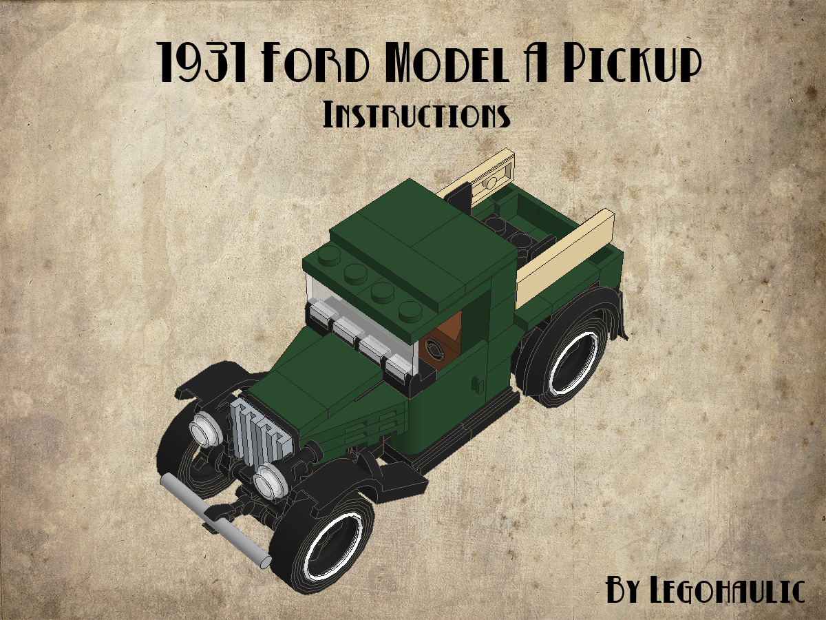 Instruction Tutorial Ford A Pickup Lego Brickmafia