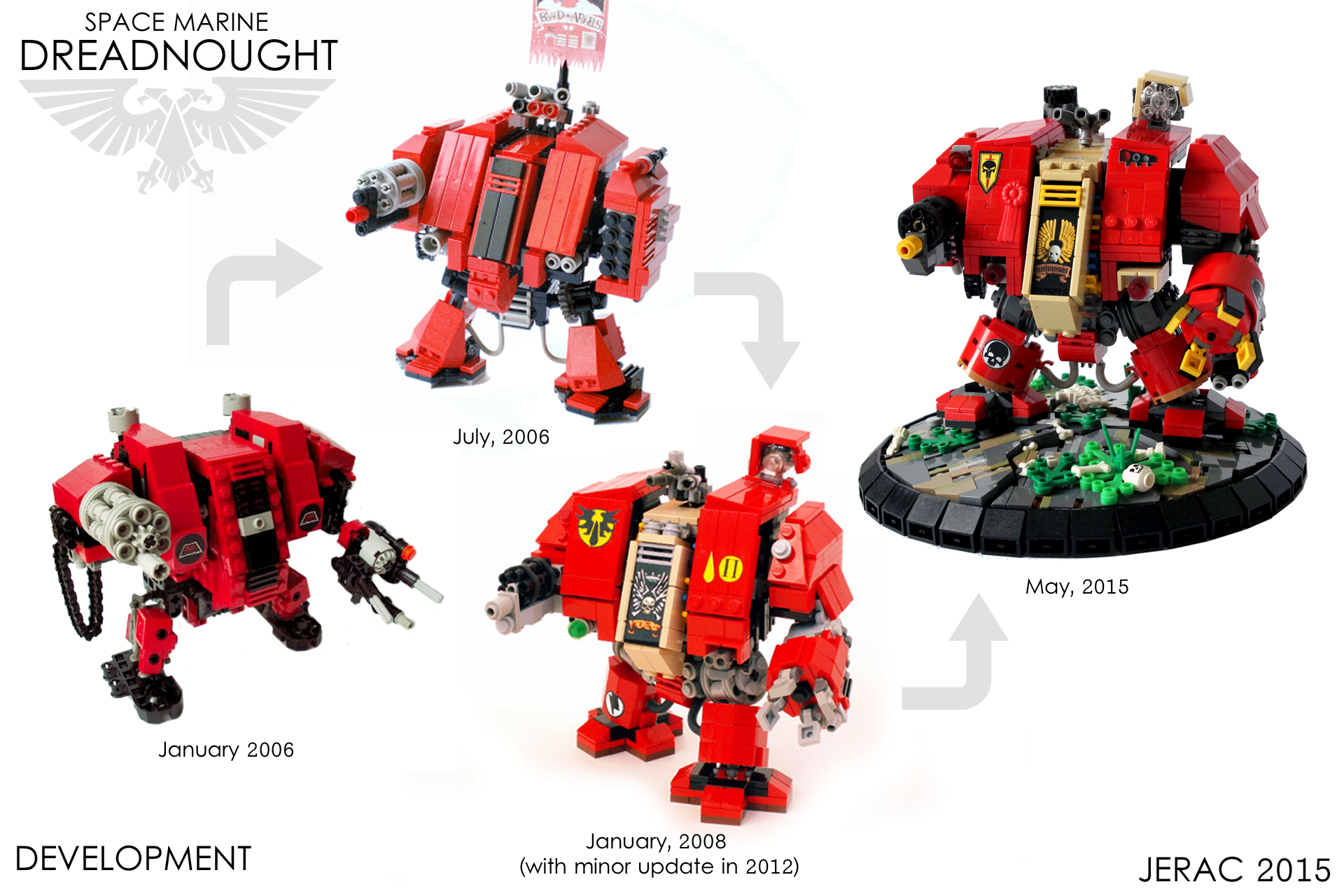 Evolution Dreadnought Space Marine Lego